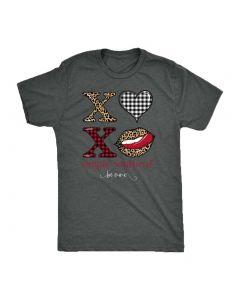 Simply Southern Women's Vintage XOXO T-Shirt Dark Heather Grey