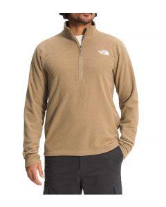 The North Face Textured Cap 1/4 Zip Kelp Tan