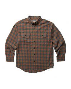 Wolverine Men's Glacier Flannel Shirt Mahogany Plaid