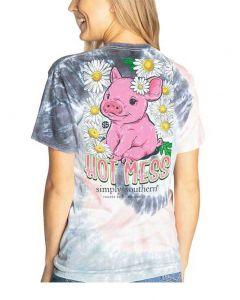 Simply Southern Women's Hot Mess T-Shirt Pastel