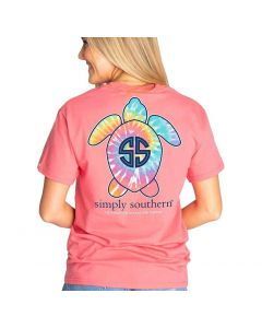 Simply Southern Women's Save T-Shirt Begonia