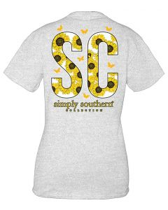 Simply Southern Women's South Carolina T-Shirt Ash