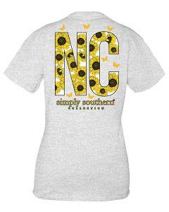 Simply Southern Women's North Carolina T-Shirt Ash
