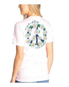Simply Southern Women's Peace T-Shirt Lulu