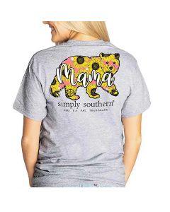 Simply Southern Women's Mama T-Shirt Heather Grey