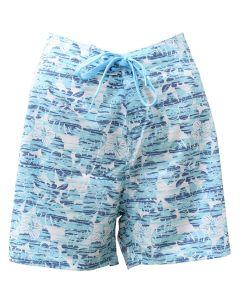 Stillwater Supply Co. Ladies Stretch Boardshorts Blue