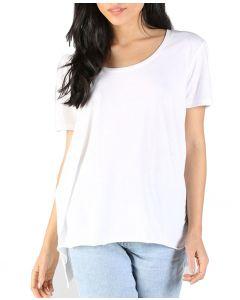 Angie Women's Scoop Neck T-Shirt White