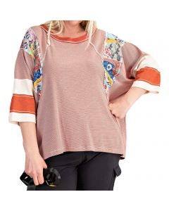 Easel Women's Mix 'N Match T-Shirt Plus Red