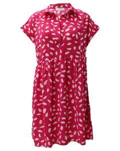 Umgee USA  Dalmation Dress Hot Pink