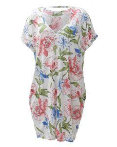 Cherish Floral Swing Dress Off-White