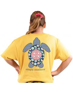 Simply Southern Women's Save Shell T-Shirt Sunflower