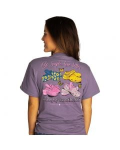 Simply Southern Women's Live Simple T-Shirt Plum