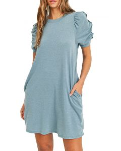 Cherish French Terry Dress Teal