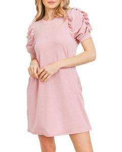 Cherish Women's French Terry Dress Blush