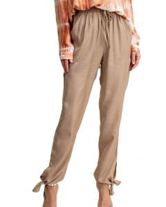 Kori America Knotted Ankle Pants Camel