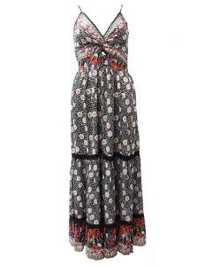 Angie Tiered Maxi Dress Black