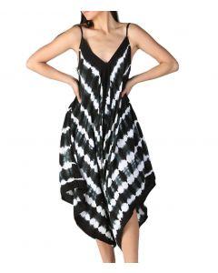 Angie Tyedye Harem Jumpsuit Black White