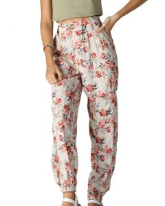 Angie Floral Jogger Ivory