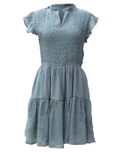 Blu Pepper Ruffle Dress Light Teal