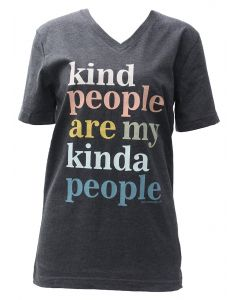 Pink Armadillo Kind People Are My Kinda People T-Shirt Grey Heather