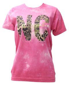 Pink Armadillo NC Camo T-Shirt Magenta