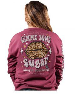 Simply Southern Sugar T-Shirt Maroon