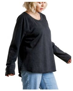 Umgee USA Mineral Wash Terry Top Black