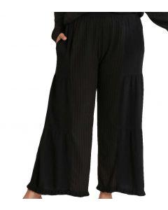 Umgee USA Tiered Culottes Black