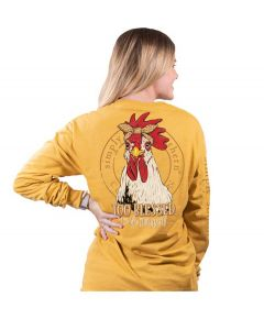 Simply Southern Chicken T-Shirt Mustard