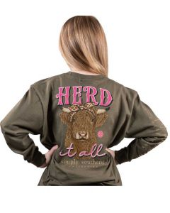 Simply Southern Herd T-Shirt Moss