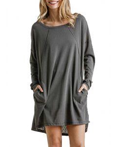 Umgee USA Long Sleeve Dress Ash