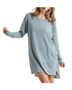 Umgee USA Long Sleeve Dress Light Denim