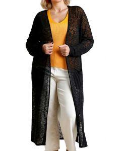 Umgee USA Long Cardi Plus Black