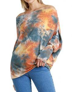 Umgee USA Tie Dye Top Pumpkin