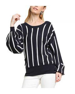 Umgee USA Strip Key Sweater Navy