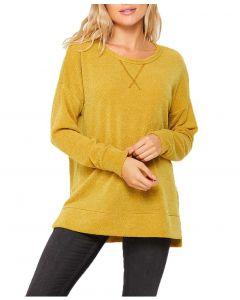 Honeyme Crew Sweater Mustard
