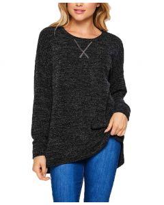 Honeyme Crew Sweater Plus Black