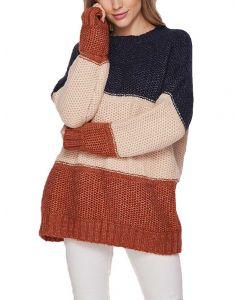 Honeyme Stripe Sweater Navy Beige