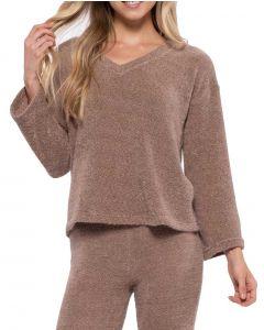 Blu Pepper V-Neck Sweater Cocoa