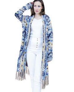 Very Moda Aztec Cardigan Blue