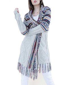 Very Moda Tribal Cardigan Beige