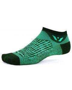 Swiftwick Aspire No Show Socks Bolt Black Seafoam