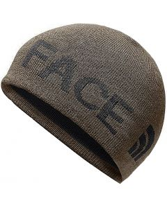 The North Face Reversible TNF Banner Beanie Brown Asphalt Grey