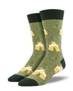 Socksmith Men's Hoppier Together Green Heather