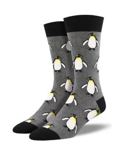 Socksmith Men's The Coolest Emperor Charcoal