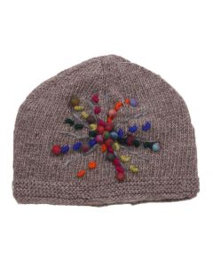 Windhorse Snowflake Beanie Brown Beige