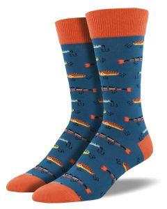 Socksmith Men's Just Fishin Socks Steel Blue