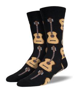 Socksmith Men's Guitars Socks Black