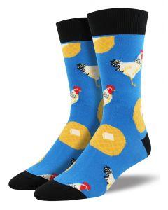 Socksmith Men's Chicken & Waffles Blue
