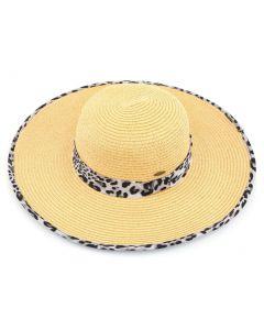 C.C. Exclusives Straw Hat Light Brown